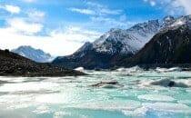 glacier Mt Cook ile du sud Nouvelle Zélande