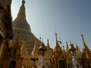 paya schwedagon rangoon birmanie