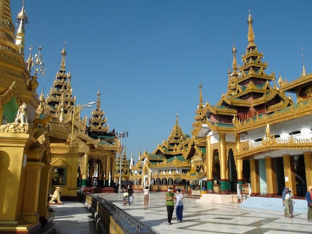 que faire en Birmanie? Rangoon Paya Shwedagon