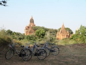 Bagan temple à vélo