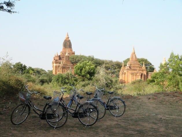 Bagan temple à vélo
