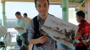 Birmanie peinture à l'essence alex