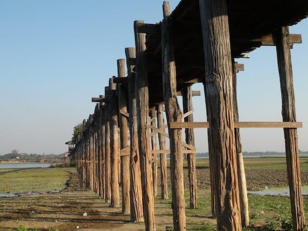 Mandalay pont en teck le plus long du monde u bein