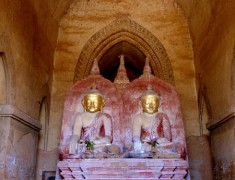 bouddha interieur temple bagan birmanie