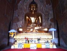 statue interieur temple bagan birmanie