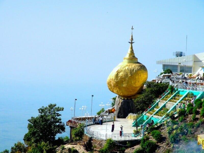 rocher d'or sacré Myanmar
