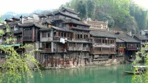 maisons sur piloti Fenghuang Chine