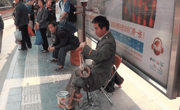 Artiste de rue Kunming chine
