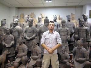 Alex soldats terre cuite xian chine