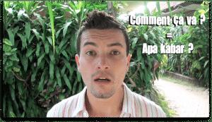 Alex dites-le en indonésien bali indonésie