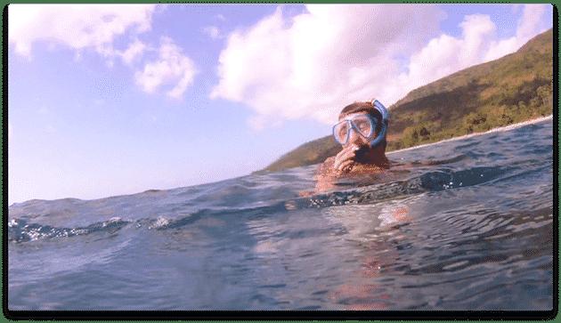 Alex snorkeling amed bali indonésie