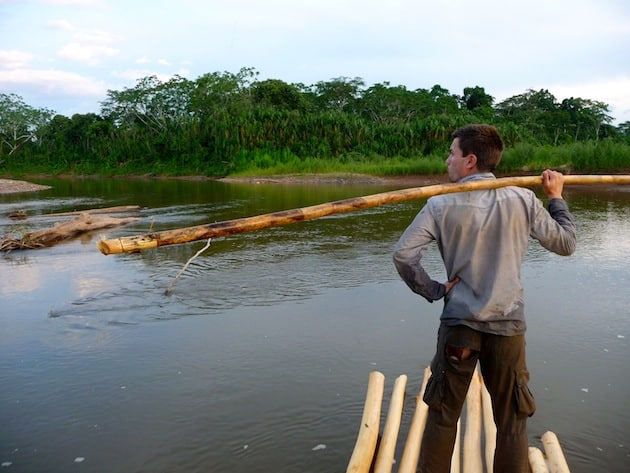alex sur le raft parc national madidi bolivie
