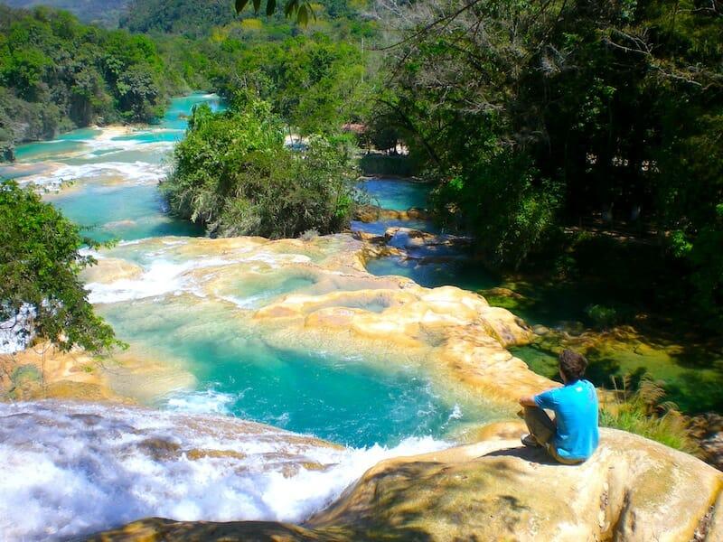 agua azul mexique voyage en sac a dos
