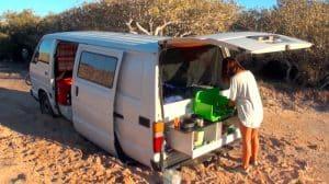 ensablement du van en road trip australie