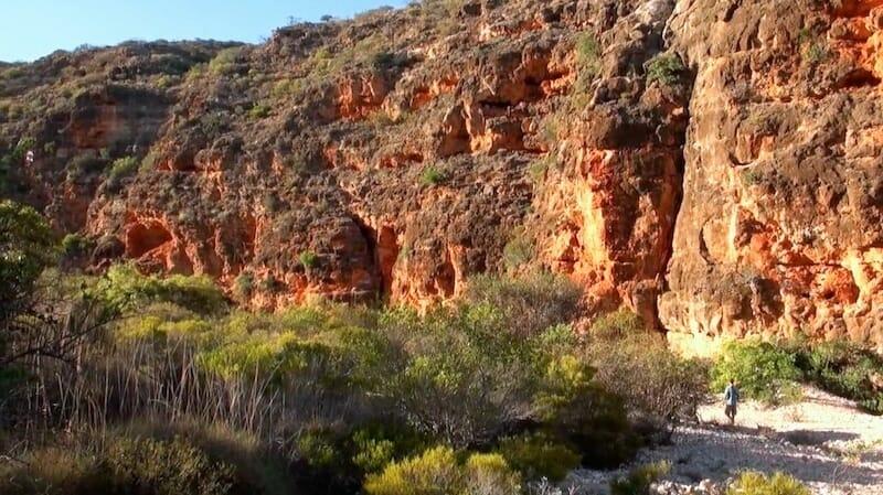 interieur gorge mandu mandu cap range exmouth australie