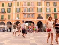 plaza major centre ville palma de majorque baleares