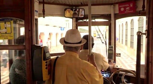 interieur tram 28 lisbonne