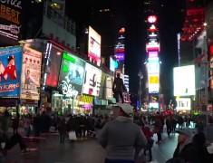 Time square de nuit nyc