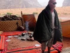 bedouin pluie wadi rum