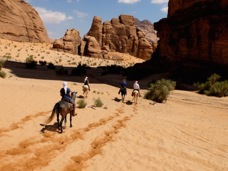 cheval wadi rum randonnee