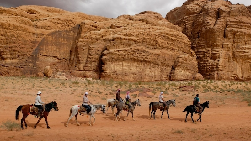 trek cheval wadi rum jordanie