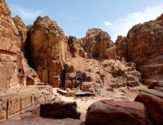 vue petra de haut jordanie