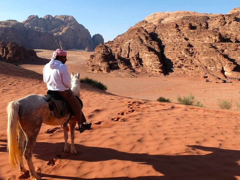 guide bedouin cheval wadi rum