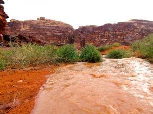 oued orage wadi rum jordnaie