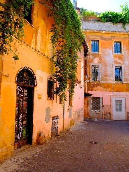 rue trastevere itinéraire pour visiter rome
