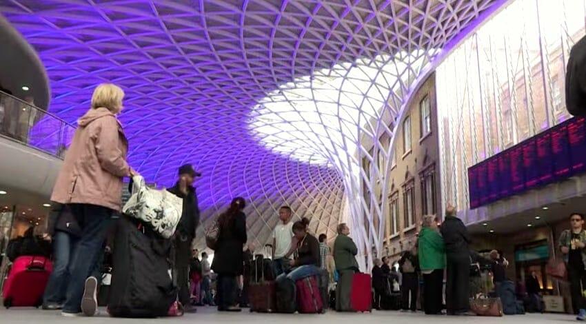 arrivee Londres gare st pancras