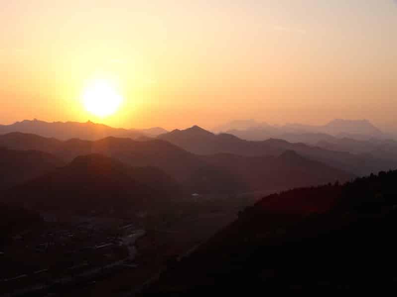 lever de soleil grande muraille