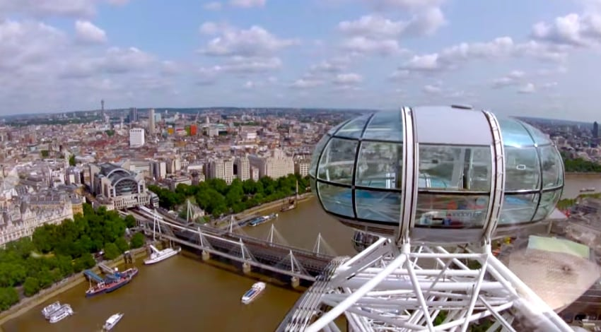 panorama en haut du London eye