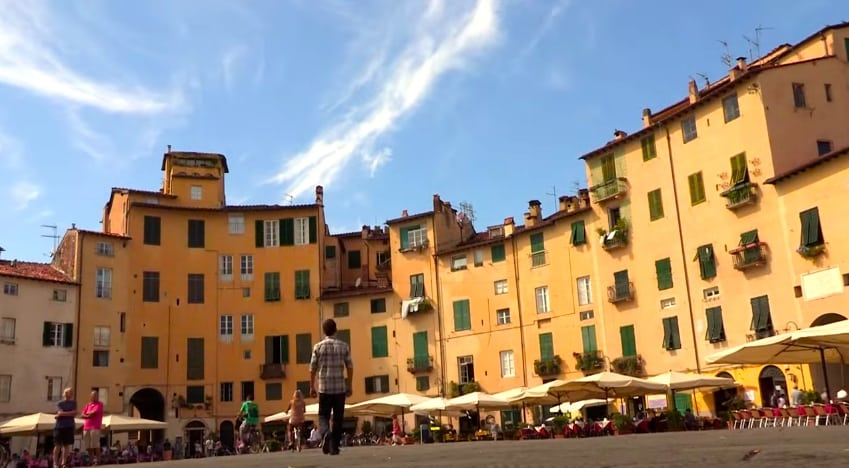 place centrale lucca italie