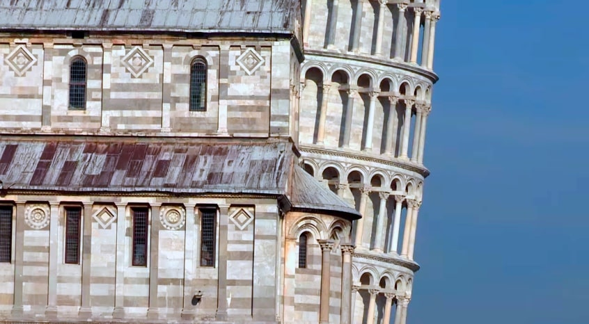 tour de pise profil italie