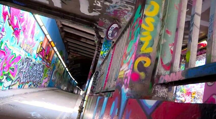 vue de interieur du tunnel a londres
