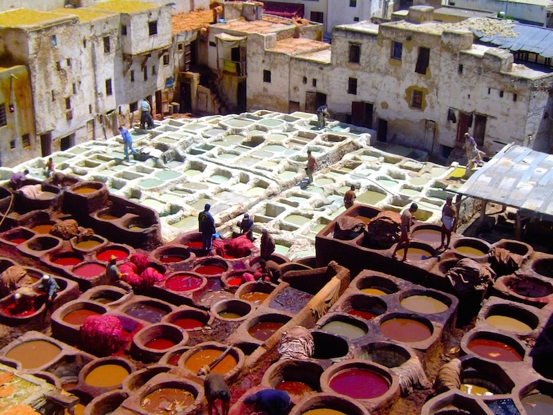 tanneurs de fez maroc