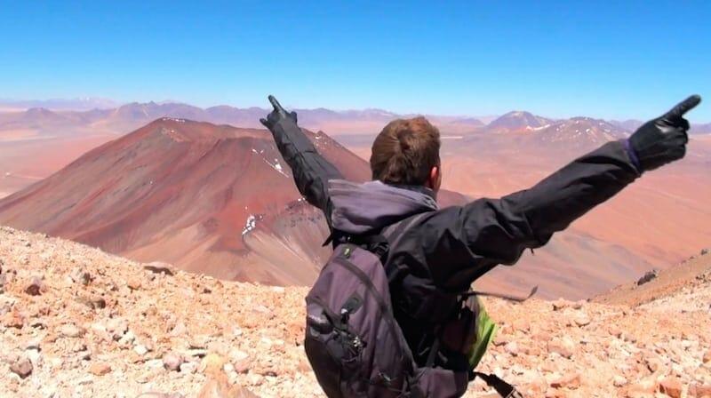 sommet du Volcan Licancabour Bolivie