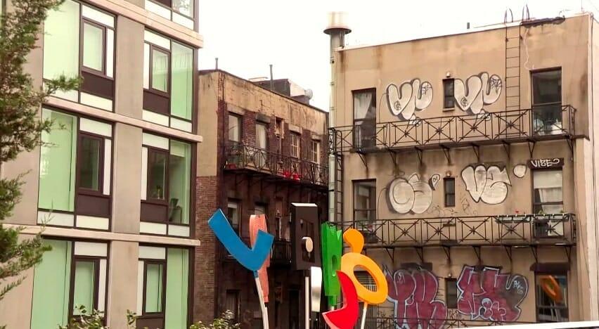 vue high line sur rues new york