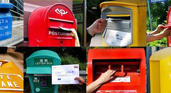 envoyer carte postale étranger