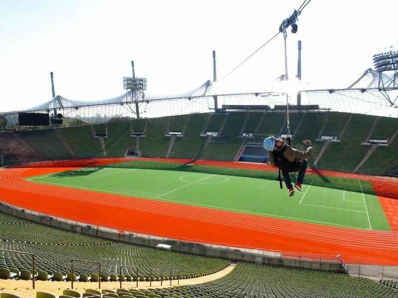zipline stade olympique munich