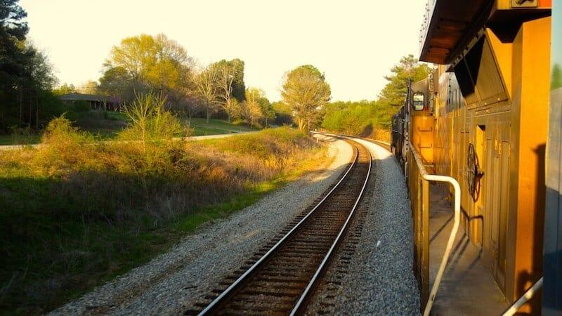 voyage en amérique en train de fret
