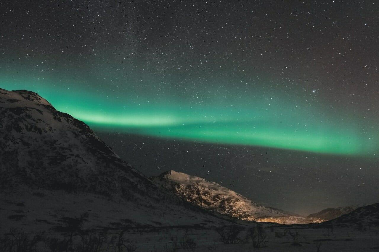 aurores boreales en norvege tromso