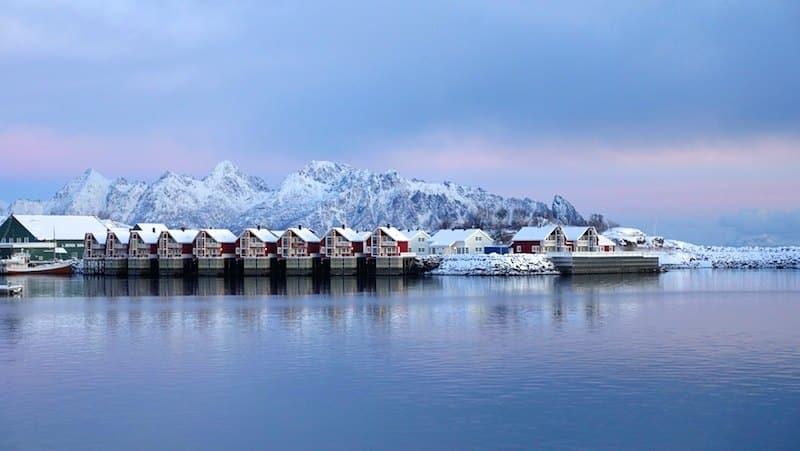 iles lofotens aurores boréales en Norvège