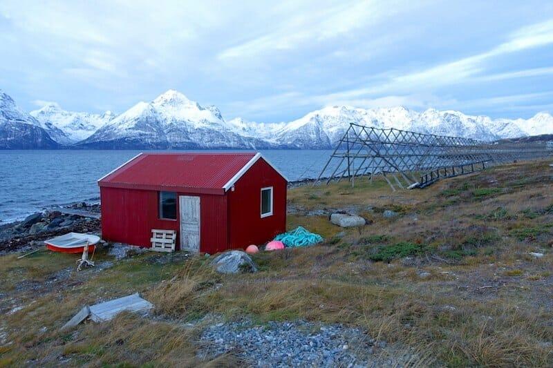lyngen fjord aurores boreales en norvege