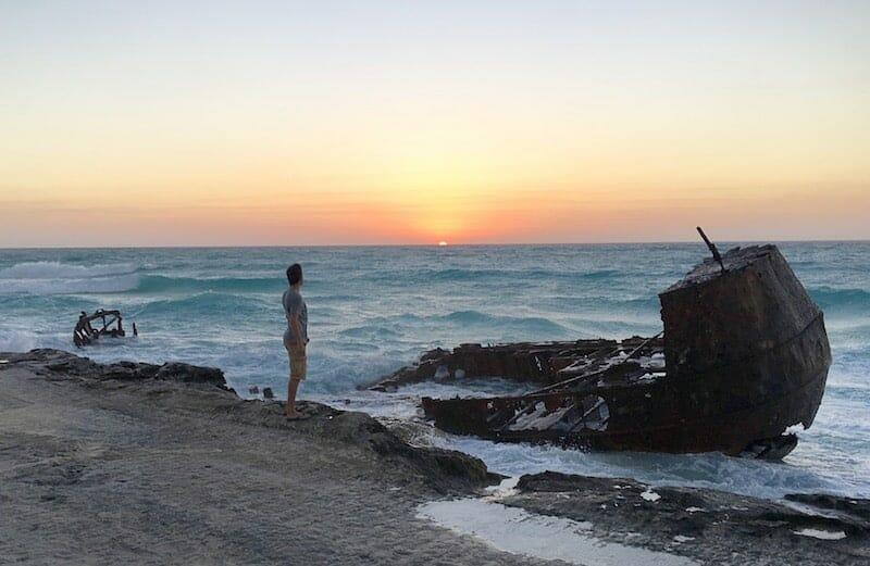 Voyage aux Bahamas Epave plage North Bimini
