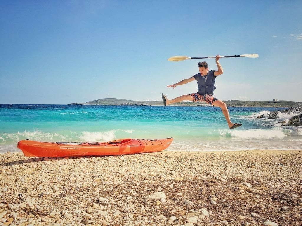 visiter gozo et faire du kayak à malte