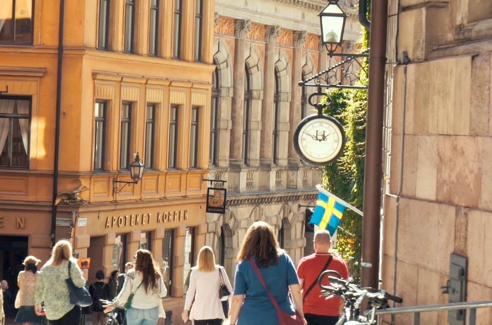 visiter stockholm et Gamla stan dans la vieille ville
