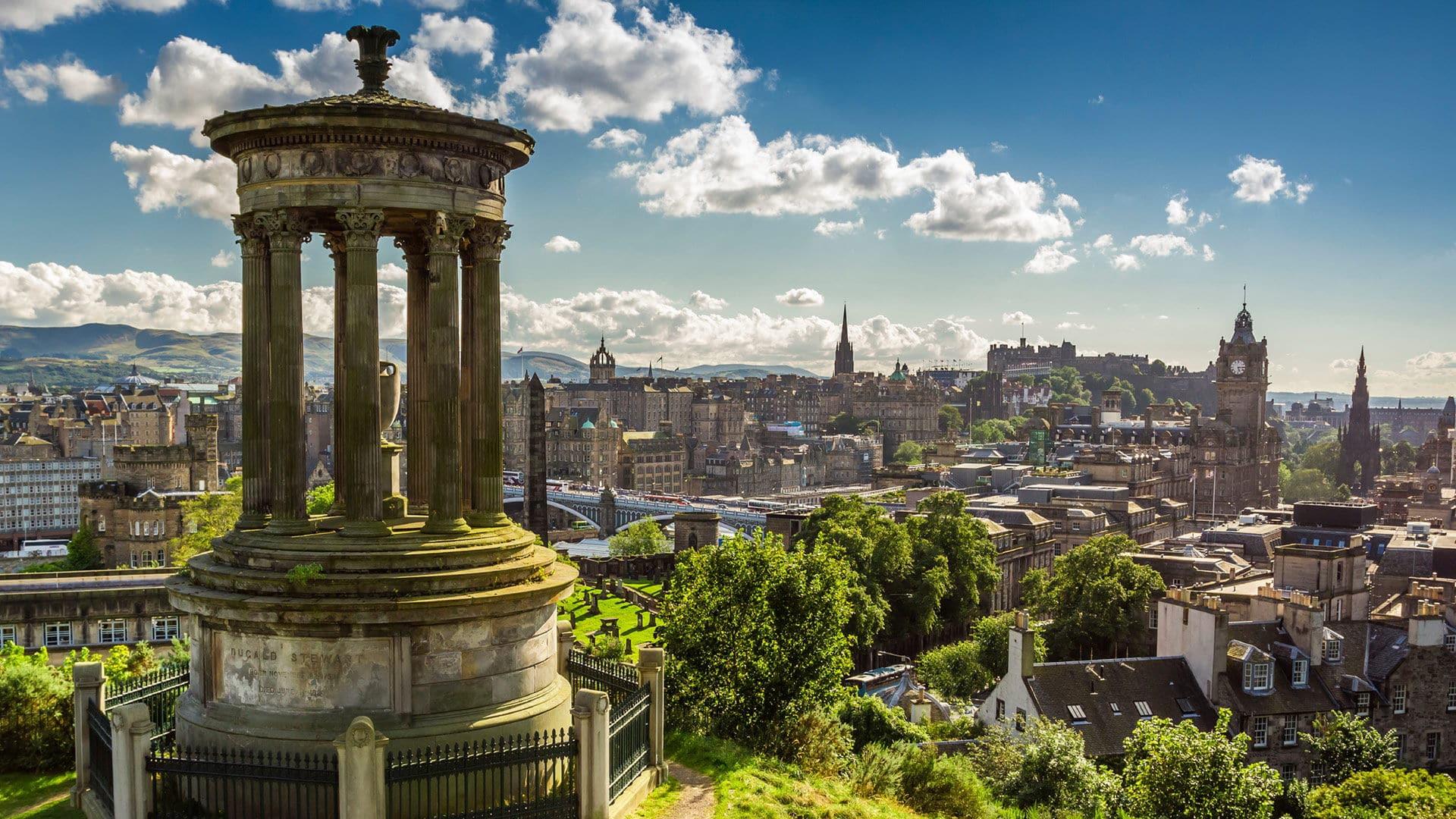 Edimbourg vue panoramique