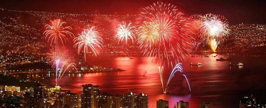 Valparaiso feu artifice jour de l an