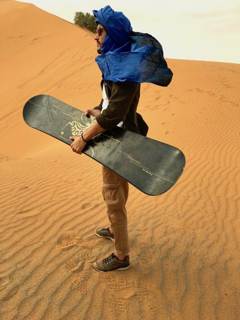 sandboarding dune merzouga maroc